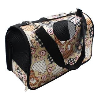 Petpals Stitches and Patches Pet Dog Travel Carrier (Brown)