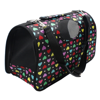 Petpals Hearts Pet Dog Travel Carrier (Multicolor)