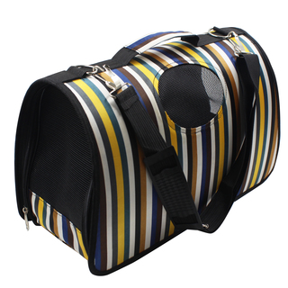 Petpals Stripes Pet Dog Travel Carrier (Multicolor)