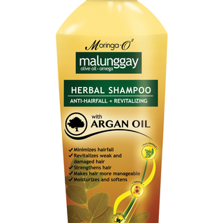 Moringa- O2  Malunggay Herbal Shampoo with Argan Oil (200ml)