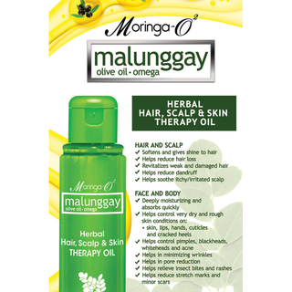 Moringa- O2  Malunggay Herbal Hair, Scalp & Skin Therapy Oil (55 ml)