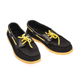 The Shoe Cycle Ariel Boat Shoes  - Yellow / Black (ARIEL 003)