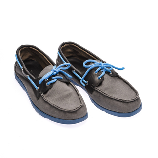 The Shoe Cycle Ariel Boat Shoes  - Blue / Grey (ARIEL 004)