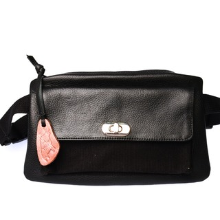 Our Tribe Women's Leather Hybrid Bag -737 B (Black)