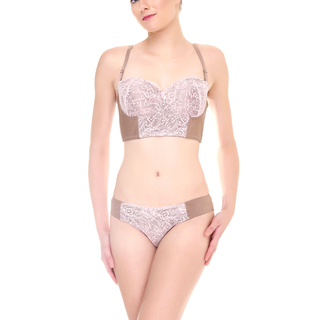 Barbizon Addalyn Corset Bra  (Mauve - 8880)