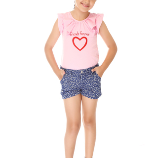 BASICS FOR KIDS GIRLS SHORT - BLUE (G502265-G502275)