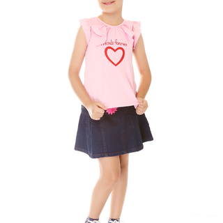 BASICS FOR KIDS GIRLS BLOUSE - PINK/ BLUE (G307101 - G307111)