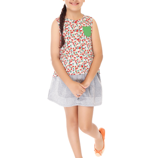 BASICS FOR KIDS GIRLS BLOUSE - RED (G213452 - G213462)