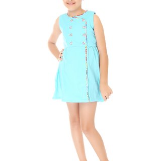 BASICS FOR KIDS GIRLS DRESS - BLUE (G904545 - G904555)
