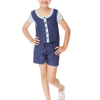 BASICS FOR KIDS GIRLS DRESS - BLUE (G903995 - G904005)