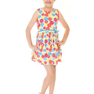 BASICS FOR KIDS GIRLS DRESS - YELLOW (G904624 - G904634)