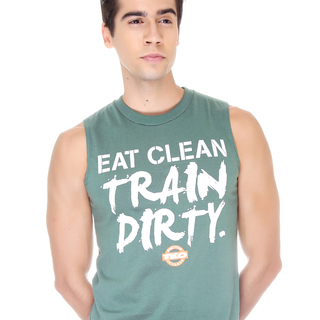 Tko Eat Clean Train Dirty Muscle Shirt
