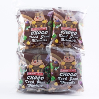 2 Bundles of Khong Guan Choco Iced Gem Biscuits (CIG-12) 30 g x 12 packs