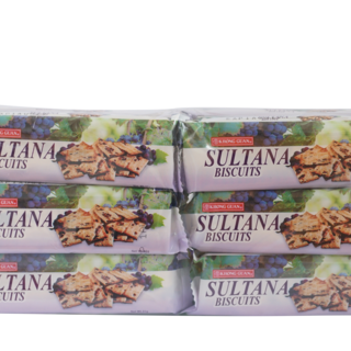 2 Bundles of Khong Guan Sultana Raisin-Filled Biscuits 31 g x 12 packs (SUL-12)