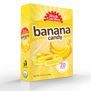 3 Bundles of Rich Garden Banana Candy (BC-20PCSBOX)