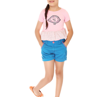 BASICS FOR KIDS GIRLS SHORT - TEAL BLUE (G502225-G502235)