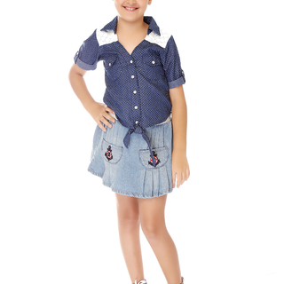 BASICS FOR KIDS GIRL SKIRT - BLUE (G704555-G704565)