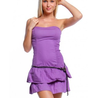 BERSHKA TUBE LAYERED DRESS CHA13072229 (VIOLET)