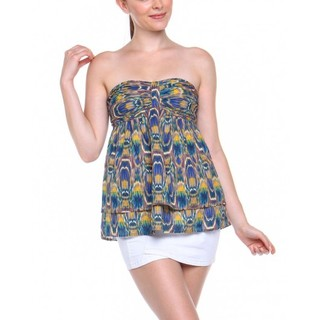 NAF NAF TUBE BLOUSE BLUE AND GREEN (AKE130841750)