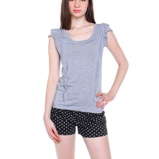 PULL & BEAR BLOUSE HA1307097 (GRAY)