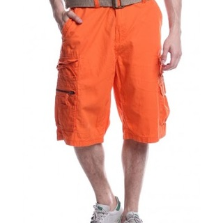 IRON CO. MENS CARGO SHORT WITH BELT AGC131042701 (ORANGE)