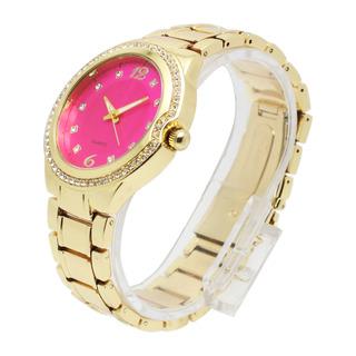 Crystal Women's Gold Metal Strap Watch