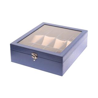 12-Compartment Watchbox Blue Amanda (Square Type)