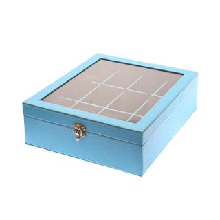 12-Compartment Watchbox Light Blue Amanda (Square Type)