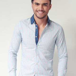 G200 MENS LONG SLEEVE WOVEN WITH COLLAR (AJY150547748)