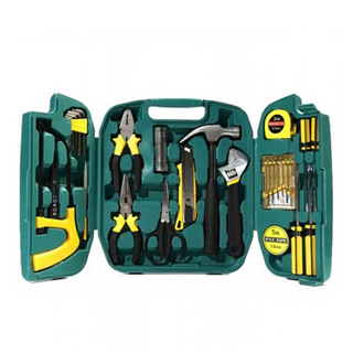 27 Pieces Repair And Maintenance Tool Set - Black-Yellow