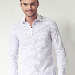G200 MENS LONG SLEEVE WOVEN WITH COLLAR (AJY150548068)