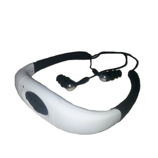 8GB Waterproof MP3 Headset - White