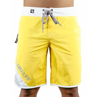 FLUID SURF MEN'S BOARD SHORTS - YELLOW