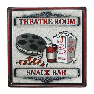 Theatre Room Snack Bar Metal Tin Sign (Large)