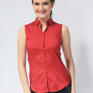 G2000 LADIES SLEEVELESS WOVEN WITH COLLAR (AJY150547514)