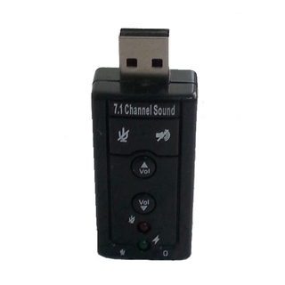 USB Virtual 7.1 Channel Sound Adapter Rectangle - Black