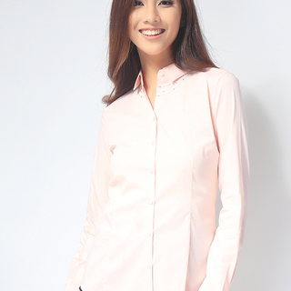 G2000  LADIES LONG SLEEVE WOVEN WITH COLLAR (AJY150547877)