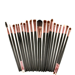 20 Pieces Cosmetic Brush Set - Black-Pink