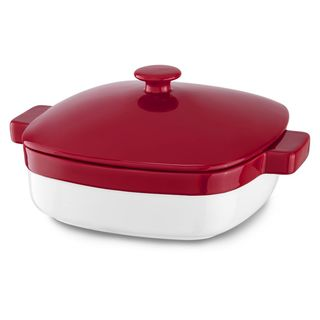 KitchenAid 4.2 Qt Ceramic Caserole Dish with Lid Bakeware Empire Red KBLR42CRER
