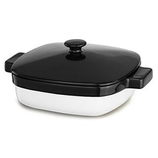 KitchenAid 4.2 Qt Ceramic Caserole Dish with Lid Bakeware Onyx Black KBLR42CROB
