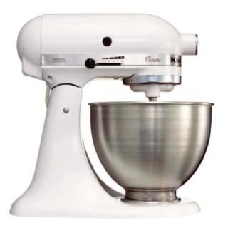 KitchenAid 4.5Qt Classic Stand Mixer White 5K45SSBWH 220V