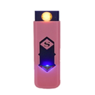 USB Electronic Rechargeable Battery Flameless Cigar Cigarette Lighter (Pink)