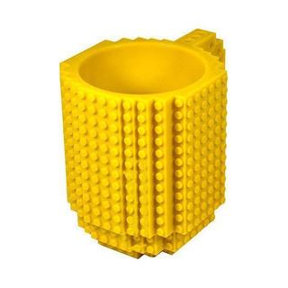 Build-On Brick Mug - Yellow