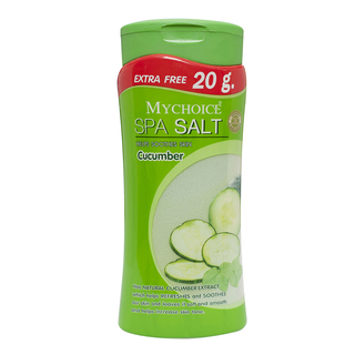 Mychoice Spa Salt Bottle Cucumber (500g)