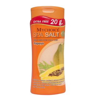 Mychoice Spa Salt Bottle Papaya (500g)