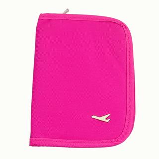 Purse Wallet Business Organizer Storage Travel Passport Credit Id Card Cash Ticket Document Holder Pink