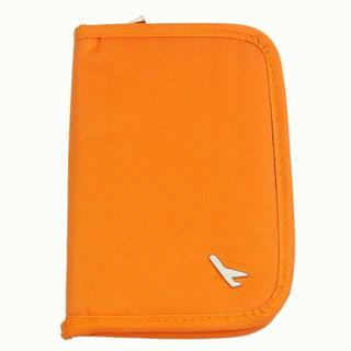Purse Wallet Business Organizer Storage Travel Passport Credit Id Card Cash Ticket Document Holder Orange