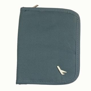Purse Wallet Business Organizer Storage Travel Passport Credit Id Card Cash Ticket Document Holder Grey