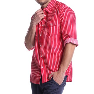 CARBON MEN'S LONGSLEVEE WOVEN WITH COLLAR RED 41705