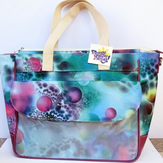 LifeSavers Diaper Bag (Green with Purple Spheres)